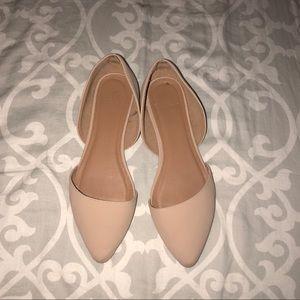 Nude Pointed Toe Flats